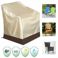 Waterproof Patio Single High Back Chair Covers Outdoor Yard Furniture  US