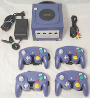 Nintendo GameCube Konsole Lila + 4 Controller + Kabel