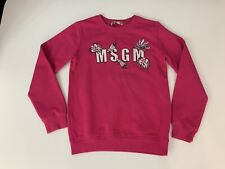 MSGM girls Pink Sweater Jumper Size Age 10 Years Vgc  Long Sleeve