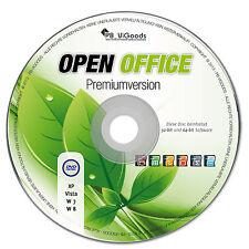 Open Office Paket 2016 PREMIUM für Windows 7 Vista XP Mac 2010 Schreibprogramme