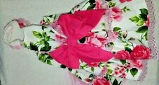 Dog dress pink floral w tule Cute