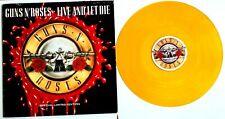"""EX/EX Guns N Roses Live And Let Die 12""""  Orange VINYL 1991"""