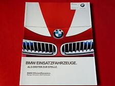 BMW 3er 5er X3 X5 Polizei Feuerwehr Notarzt Security Prospekt von 2011