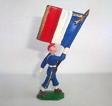 Figurine cyrnos époq. starlux clairet jim : soldat porte drapeau n°5