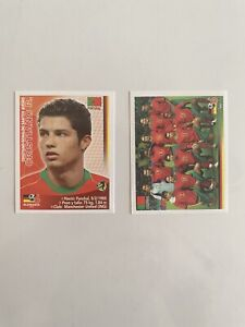 2006 WORLD CUP GERMANY STICKER Rookie Cristiano Ronaldo Portugal Team Lot
