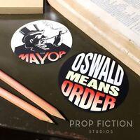 Batman Returns - Prop Oswald Cobblepot for Mayor Stickers / Set Dressing Decals