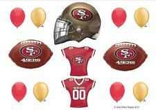 SAN FRANCISCO 49ERS FOOTBALL PARTY BALLOONS Decorations Supplies Super Bowl