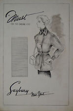 Mary Nell Brooks  1930's Retro Fashion Illustrations - Texas Centennial Artist