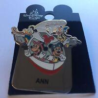 WDW - Monorail ANN Name Pin FAB 4 Mickey Minnie Goofy Donald Disney Pin 15004