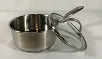 Simply Calphalon 8701 1 Quart Qt. Sauce Pan With Glass Lid Pot Saucepan Stove