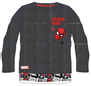 SPIDERMAN Boys Long Sleeve T-shirt, Top Official Licensed 4-9 yrs