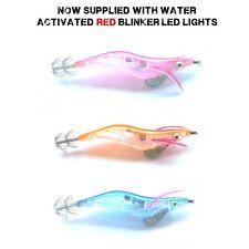 Sea Fishing LED Blinker / Flashing Squid Jigs Lures Pirk & Hooks
