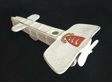 More details for world war one ceramic crested china monoplane by willow art with sunbury crest