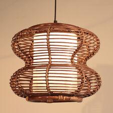 Rattan Peanut Dining Room Ceiling Pendant Lamp Bar Counter Hang Light Chandelier