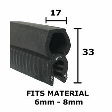 Large Finned Car Boot Seal - Rubber EDGE TRIM - 33mm x 17mm by THE METAL HOUSE