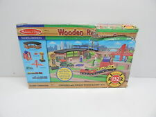 Melissa & Doug 701 Deluxe Wooden Railway Train Set (130+ pcs) BOX DAMAGE