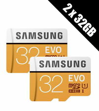 2 x Samsung Memory Evo 32GB Micro SDHC Card 95MB/s UHS-I U1 Class 10 with Adapte