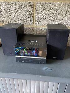 SONY CMT-BX77DBI Mini Hi-Fi System Dab Radio CD Ipod Dock Home Audio System