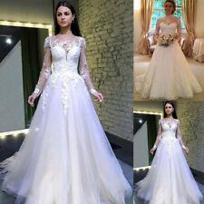 Damen Weiß Hochzeitskleid Brautjungfern Abendkleid Maxi Ballkleid Partykleider