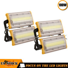2X 100W Led Flood Light Cob Outdoor Spotlights Landscape Garden Yard Cool White
