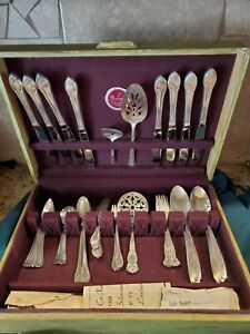 53 pc Antique Vintage Silver Flatware Oneida Rogers Bros and More Mix Box