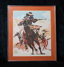 Warpath Signed Numbered William Bill McCauley Western Lithograph Print Artwork