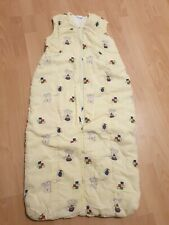 Schlafsack Baby Winter, 110 cm, gelb, gefüttert, wattiert, Jungen, Mädchen