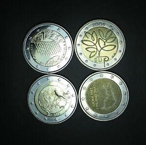 2004,2015,2017,2017  FINLANDE 2 euro COMMEMORATIVE