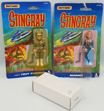 STINGRAY : TROY TEMPEST & MARINA CARDED FIGURES + STIMGRAY MODEL BUNDLE