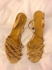Gold rhinestone gucci shoes size 8