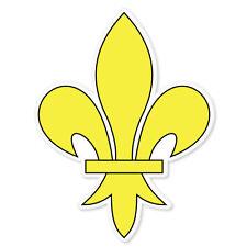 "Fleur-de-lis lily flower bumper sticker decal 4"" x 5"""