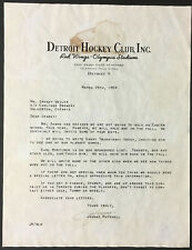 1954 NHL Hockey Detroit Red Wings Scouting Letter Signed Johnny Mitchell Olympia