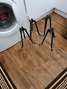 4 X Telescopic 3 X Leg Rod Holders In Bag Vgc