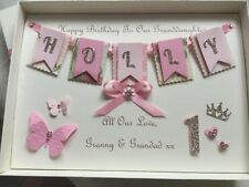 Personalised Boxed Card Girls 1st Birthday Daughter Granddaughter First 1 2 3 4