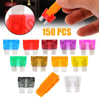 150pcs Assorted Car Fuse Auto Truck SUV Fuses Medium Blade Fuse Kits 2-40 AMP