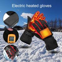 Elektrisch beheizbarer erhitzt Handschuh beheizte Winter Motorrad Handschuhe NEU