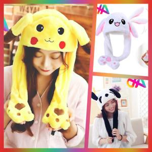 Cappello Orecchie che si Alzano Move Ear Push Moving Pokemon K-Pop Panda Hat Cap