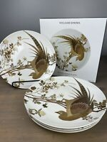 "Williams Sonoma Walden Pheasant Bird Dinner Plate Set of 4 NEW 10"" Plates"