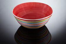 BASSANO große mediterrane Schale mit Streifen Rot italienische Keramik 31x12