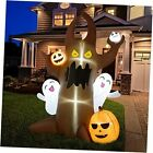 8 FT Halloween Inflatables Tree Ghost with Pumpkins and Ghosts Outdoor