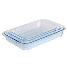 ProCook - Set de plats à four en verre rectangulaire 3 pièces