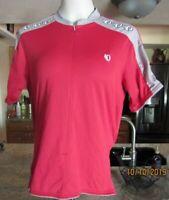 IQ Pearl Izumi Cycling Red Bike Jersey Top Shirt Short Sleeve Pockets Sz Medium