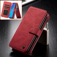 CASEME Detachable 2-in-1 Split Leather Wallet Case for Huawei P30 Lite / nova 4e