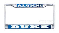 "DUKE UNIVERSITY ""ALUMNI"" Mirrored License Plate / Tag Frame"