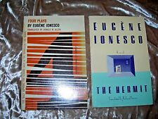 Lot of 2 Eugene Ionesco, Hermit & Four Plays (Bald Sprano, Lesson, Jack, Chairs)