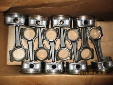 LOT OF 8 6.1 HEMI PISTONS AND CONNECTING RODS USED LOW MILEAGE