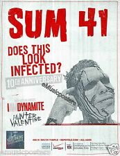 "Sum 41 ""Look Infected 10th Anniversary Tour"" 2012 Salt Lake City Concert Poster"