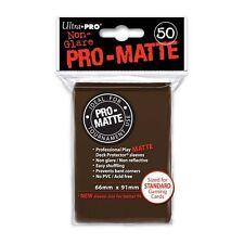 50 PRO MATTE DECK PROTECTORS Brown Marrone MTG MAGIC Ultra Pro