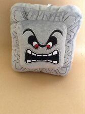 Super Mario Plush Teddy - Thwomp Soft Toy - size 17cm NEW & Tagged