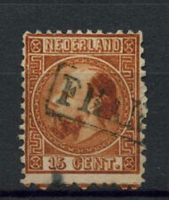 Netherlands 1867--9 SG#13, 15c Chestnut P12.5x12 Used Cat £45 #A72889